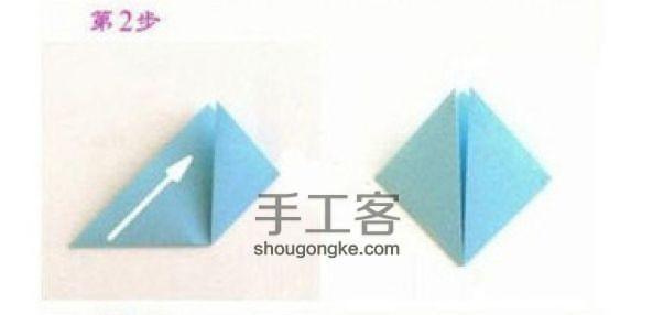 浪漫的折纸樱花DIY教程 第2步