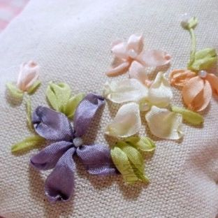 清新森系丝带绣丨束口袋也要与众不同