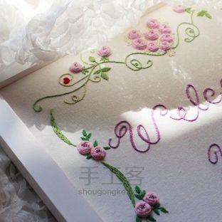 唯美立体刺绣婚礼欢迎板丨无法抗拒的美好