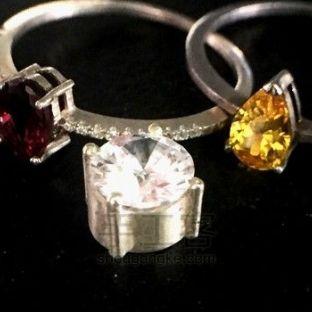 林老师首饰 4爪镶宝石托的制作