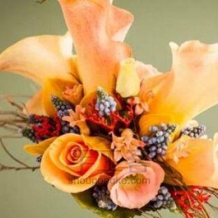 新娘手捧花之马蹄莲花束