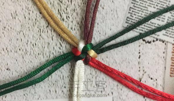 绳艺技法(1)--六线团锦结编织口诀