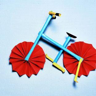 手工DIY制作回忆那些年的自行车