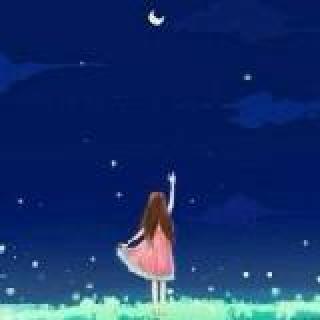 夜空中滴小月亮