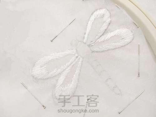 夏日清凉·法绣蓝蜻蜓 第1步