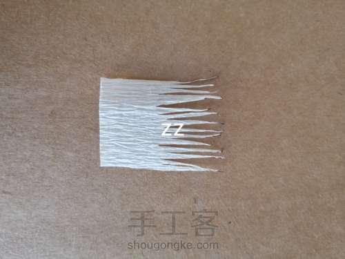 皱纹纸樱花的制作方法 第5步