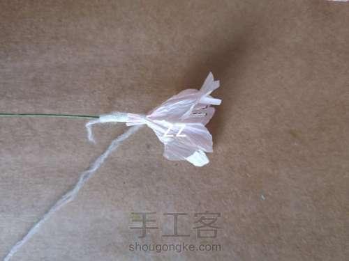 皱纹纸樱花的制作方法 第9步
