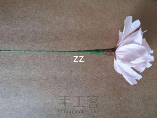 皱纹纸樱花的制作方法 第12步