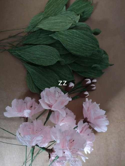 皱纹纸樱花的制作方法 第21步