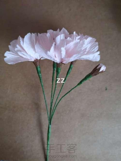 皱纹纸樱花的制作方法 第22步