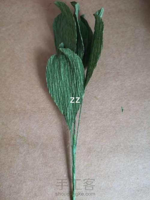 皱纹纸樱花的制作方法 第23步