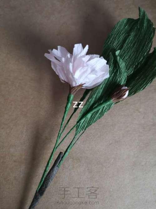 皱纹纸樱花的制作方法 第26步