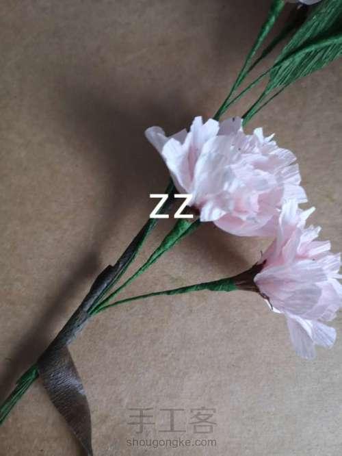 皱纹纸樱花的制作方法 第27步