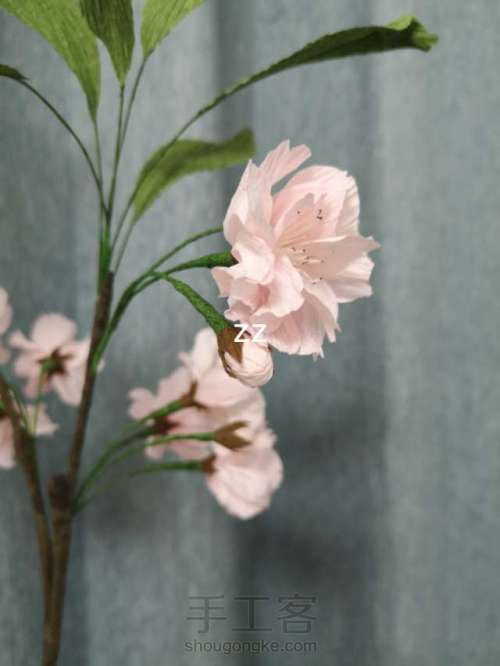 皱纹纸樱花的制作方法 第29步