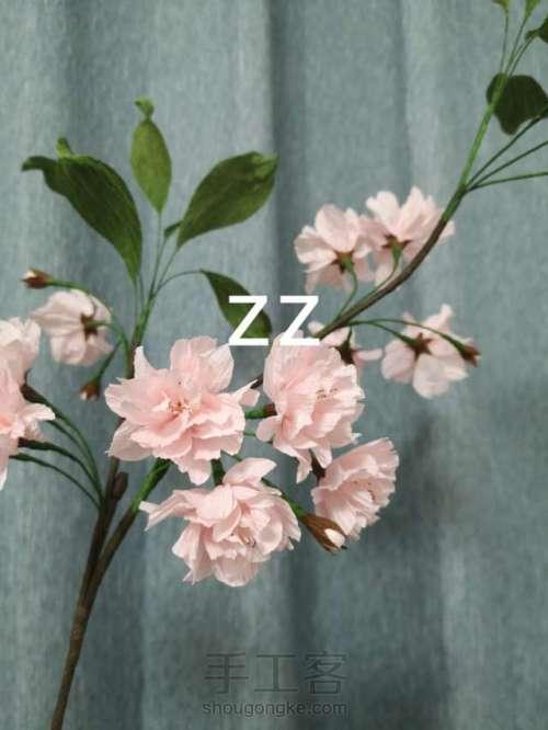 皱纹纸樱花的制作方法 第28步