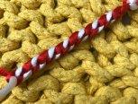 结友询问的三棱结(三楞结),我也学习一下,是三个面的一款结绳,可做手绳,简单拍了教程,供需要的结友参考