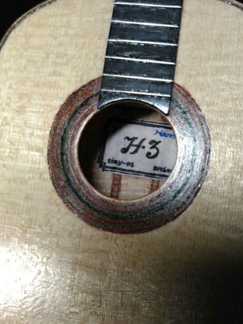 史上最精致小吉他 能弹的迷你微缩手工吉他 第95步
