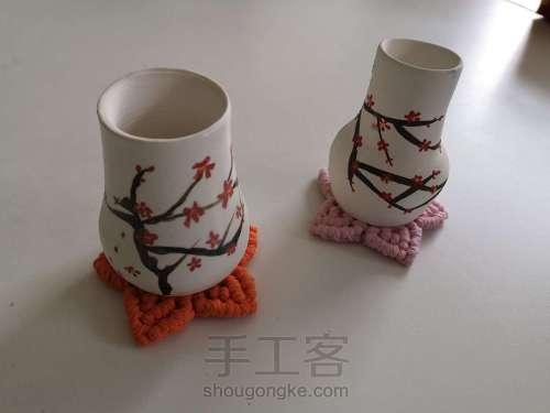 桃花朵朵杯垫 第29步
