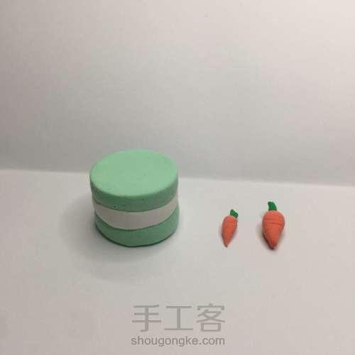 【原创】粘土手作 萝卜小蛋糕 第5步