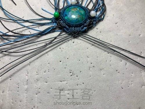 编织手链示意图 第9步