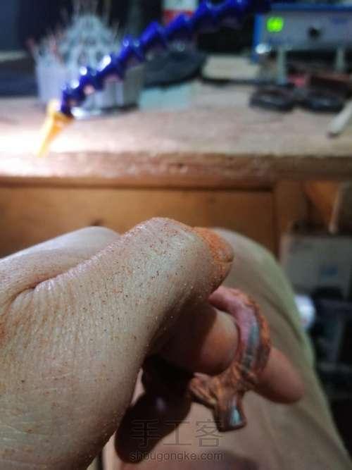 小叶紫檀手机防脱扣指环 第5步