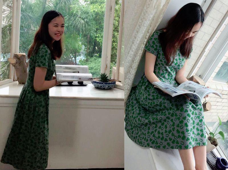 夏天午后的惬意时光里怎少得了这款裙裁剪舒适小清新的裙子呢
